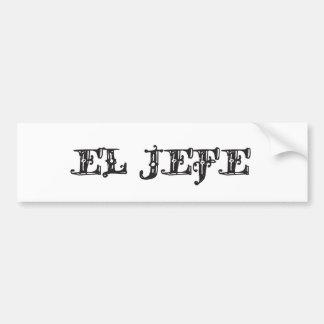 Vaquero del Vaquero del logotipo del EL Jefe Etiqueta De Parachoque