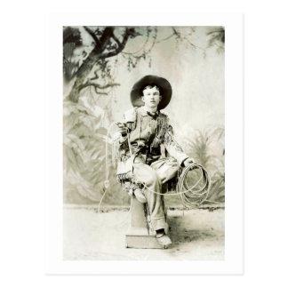 Vaquero del vintage circa 1900 postal