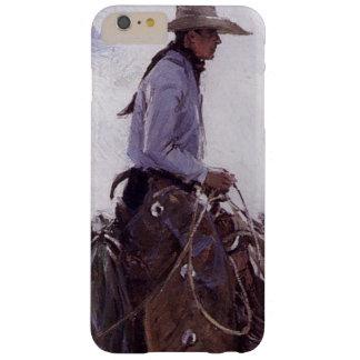 Vaquero del vintage con su manada del ganado de funda para iPhone 6 plus barely there