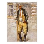 Vaquero del vintage, retrato del sheriff por el postales