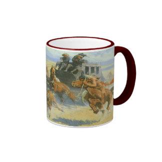 Vaquero del vintage, tragando cerca al líder, taza de dos colores