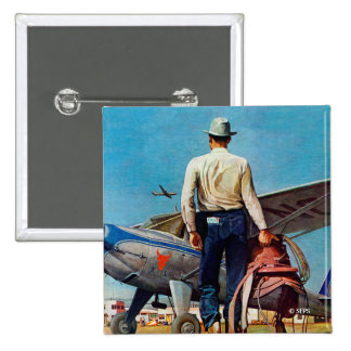 Vaquero del vuelo por la aguamiel Schaeffer Pin Cuadrado