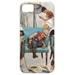 Vaquero dormido en salón de belleza iPhone 5 cárcasas