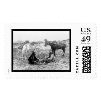 Vaquero e indio 1915 de los naipes sellos