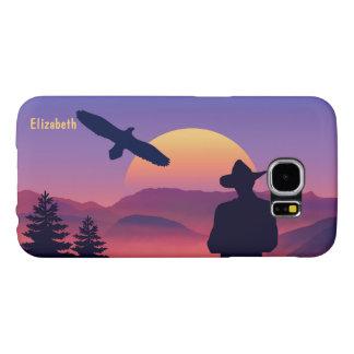 Vaquero Eagle y oeste salvaje del sol naciente Fundas Samsung Galaxy S6