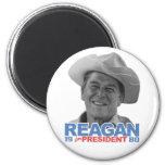 Vaquero el an o 80 de Reagan Imán Redondo 5 Cm