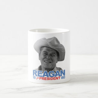 Vaquero el an o 80 de Reagan Taza Clásica
