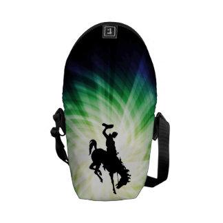 Vaquero en caballo salvaje Bronc Fresco Bolsa Messenger