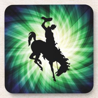Vaquero en caballo salvaje/Bronc; Fresco Posavasos De Bebida