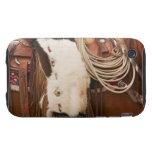 Vaquero en el caballo 2 tough iPhone 3 protector