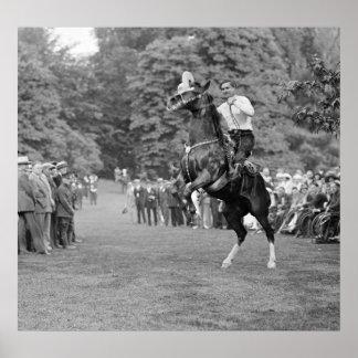Vaquero en la Casa Blanca, 1925 Póster