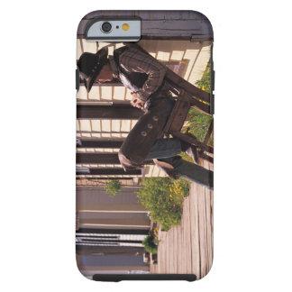 Vaquero en silla en paseo marítimo en Park City Funda Para iPhone 6 Tough