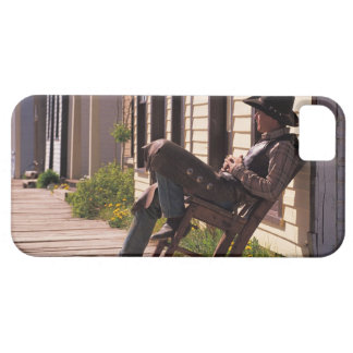 Vaquero en silla en paseo marítimo en Park City iPhone 5 Carcasa