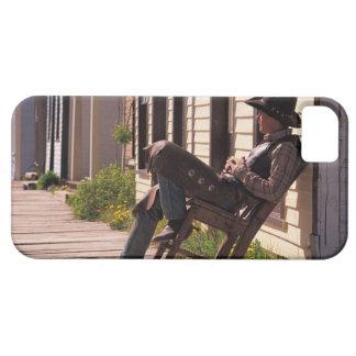 Vaquero en silla en paseo marítimo en Park City iPhone 5 Fundas