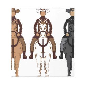 Vaquero - frente del caballo bloc de notas