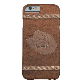 Vaquero/gorra, cuero y cuerda occidentales de la funda de iPhone 6 barely there