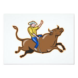 """Vaquero invitaciones de una Bull que montan Invitación 5"""" X 7"""""""
