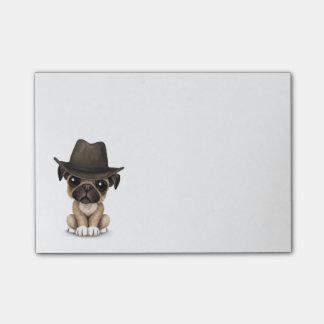 Vaquero lindo adaptable del perrito del barro notas post-it®