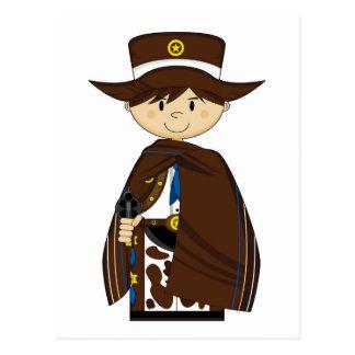 Vaquero lindo del dibujo animado tarjetas postales
