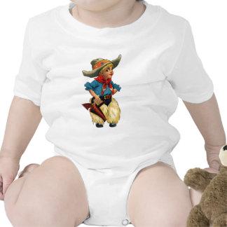 Vaquero lindo del vintage trajes de bebé