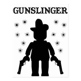 Vaquero Minifig del Gunslinger Tarjeta Postal