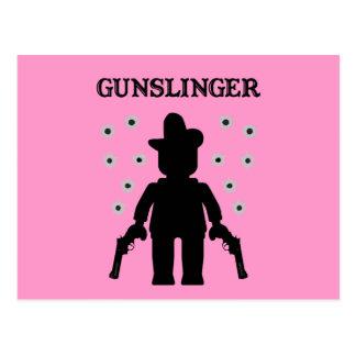 Vaquero Minifig del Gunslinger Tarjetas Postales