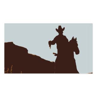 Vaquero montado en tarjetas de visita occidentales