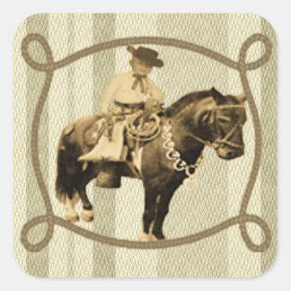 Vaquero occidental del vintage del pegatina