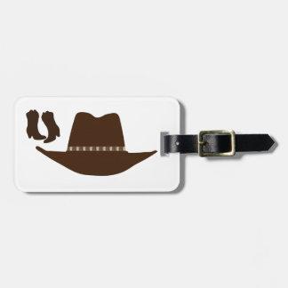 Vaquero occidental etiquetas maletas