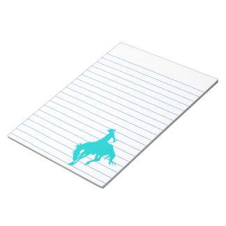 Vaquero oscuro de la turquesa bloc de notas