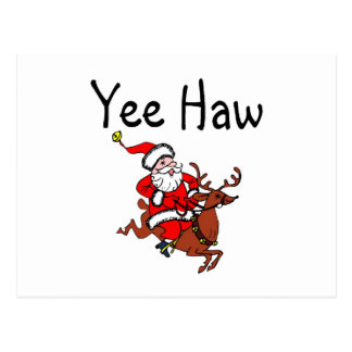 Vaquero Papá Noel del Haw de Yee Tarjeta Postal