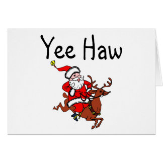 Vaquero Papá Noel del navidad del Haw de Yee Tarjetas