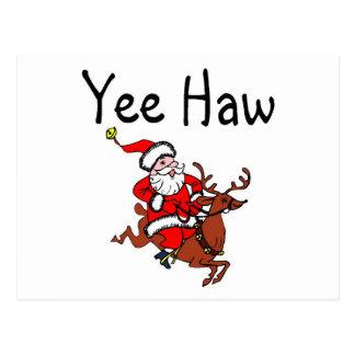 Vaquero Papá Noel del navidad del Haw de Yee Tarjeta Postal