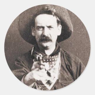 Vaquero Pegatina Redonda