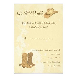 """Vaquero que casa la tarjeta de RSVP Invitación 3.5"""" X 5"""""""