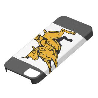 Vaquero que monta Bull iPhone 5 Carcasas
