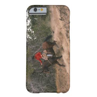 Vaquero que monta cuesta abajo funda de iPhone 6 barely there