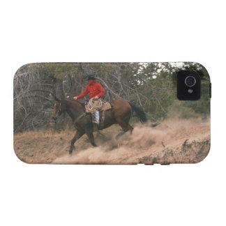 Vaquero que monta cuesta abajo iPhone 4/4S funda