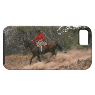 Vaquero que monta cuesta abajo funda para iPhone 5 tough