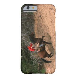 Vaquero que monta cuesta arriba funda para iPhone 6 barely there