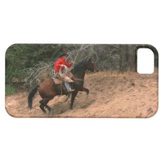 Vaquero que monta cuesta arriba iPhone 5 fundas