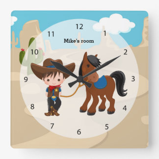 Vaquero Reloj Cuadrado