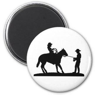 Vaquero Roping de la vaquera Imán Redondo 5 Cm