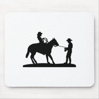 Vaquero Roping de la vaquera Alfombrilla De Raton