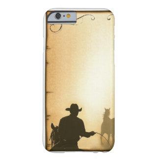 vaquero Roping del rancho occidental del case= del Funda De iPhone 6 Barely There
