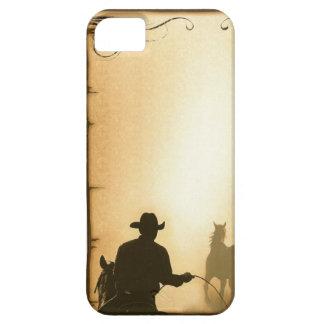 vaquero Roping del rancho occidental del case= del Funda Para iPhone 5 Barely There