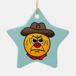 Vaquero rugoso Grumpey Ornamentos De Reyes