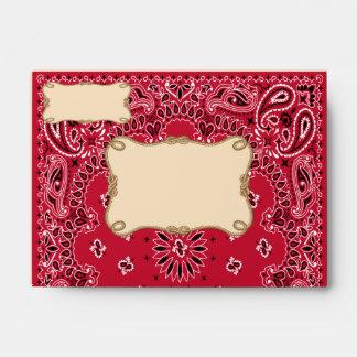 Vaquero, sobres del estilo A6 del pañuelo
