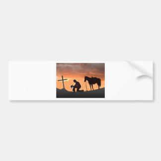 Vaquero solitario etiqueta de parachoque