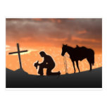 Vaquero solitario tarjeta postal